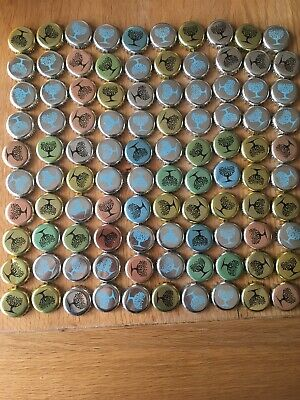 100 Fever Tree Bottle Tops Crown Caps For Craft Recycle