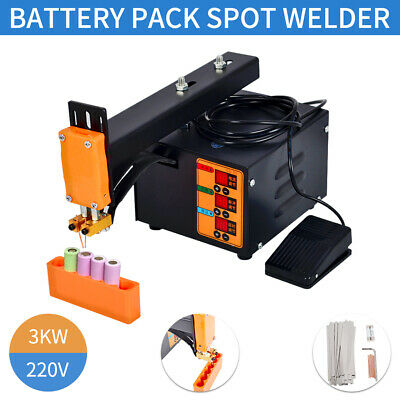 Pulse Spot Welder Machine LED Light 18650 Battery Pack for Mobile Phone/Laptop