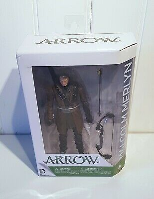 DC Collectibles Arrow Malcolm Merlyn Action Figure Toy With Bow - New