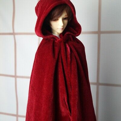 Wizard Cloak Outfits Coat RED For 1/4 17in 44CM BJD MSD AOD DOD Doll LUTS GW
