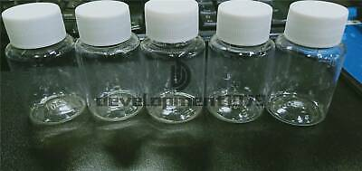 10PC 30ML Clear plastic medicine sample container bottle with lid seal vials