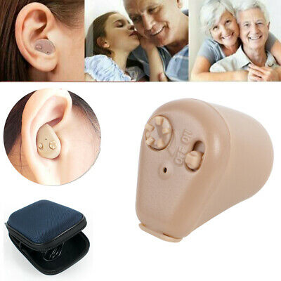 Rechargeable Digital Mini In Ear Hearing Aid Adjustable Amplifier Audiphone Tool