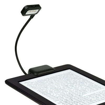 Portable Clip On Book Reading Light Bright Led Lamp Booklight for Amazon Kindle