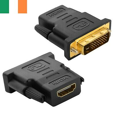 DVI-D 24+1Pin Male To HDMI Socket Female Adapter Converter Connector PC PS4 HDTV