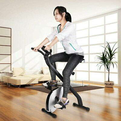 Foldable Exercise Bike X-Bike Cycling Upright Workout Machine Cardio Training