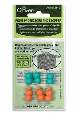 Clover CL3140 | Knitting Needle Point Protectors And Stoppers | 3 Pairs
