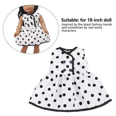 Fashion! Flowers Spotted Dress Doll Clothes Evening Suit Breathable 0+Years
