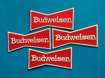 4 BUDWEISER BUD BEER KING OF BEERS Embroidered Iron Or Sewn On Patches Free Ship