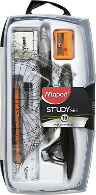 Maped 10-Piece Compass and Geometry Set, Shatterproof Case