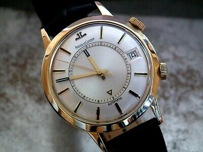 Late 1960's 18ct Gold Jaeger LeCoultre Memovox 855 Jumbo Gents Vintage Watch