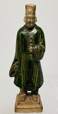 Antique Chinese Tang Dynasty Standing Musician Temple Tomb Figure As Is