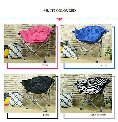 Folding Saucer Moon Chair Camping Club Chair Oxford Seat Living Room Gift Large