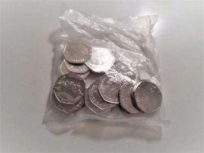 Very Rare Sealed Bag of 50p Coins Uncirculated Perfect Condition Commemorative