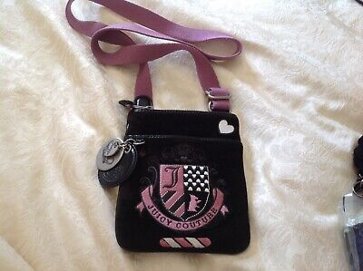 Juicy Couture Ladies/ Girls Black And Purple Cross Body Bag