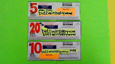 Bed Bath & Beyond Coupons $5 $10 20% Off Mega $$$ Saver!!! Bb&B Home Shopping