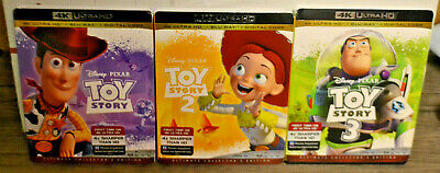 Toy Story Trilogy 4k Utra HD Only 1 2 3 - Unused - NO blu-ray/diigital
