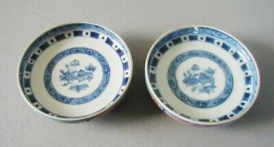 Beautiful Antique Matched Pair Of Imari Low Bowls / Compotes / Signed