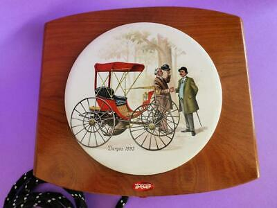 Vintage Warming Tray, Ceramic Tile, Electric Plate Warmer in Original Box, 1950s