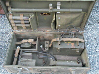 Original U.S. WWII Army Signal Corps AN/PRS-1 Mine Detector Set in Transit Chest