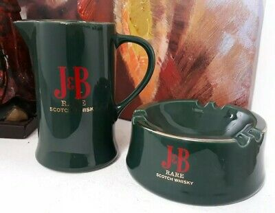 J & B Rare Scotch whisky Jug And Ashtray - WADE pottery matching set