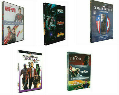 5 Marvel THE Avengers Ant Man Thor Captain America  2 & 3 Movie Collection DVD