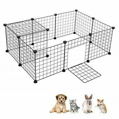 Small Animal Cage Portable Metal Wire Yard Fence Portable Pet Playpen Animal Fen