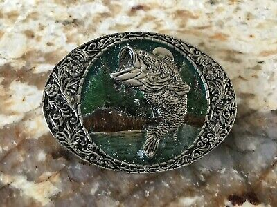 Vintage Large Jumping Speckled Trout Belt Buckle