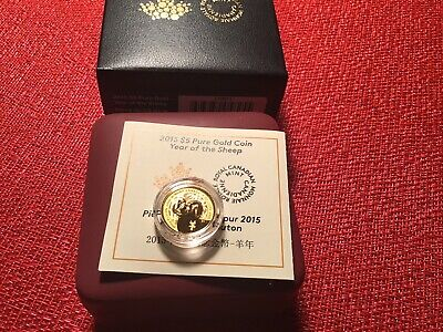 2015 $5 Pure Gold 99.99% - 1/10oz Year of the Sheep