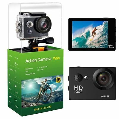 WIFI 4K 12MP HD 1080P Sports Action Waterproof Cameras Cam + Accessories Gopro