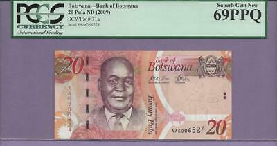 """Botswana, Bank of Botswana  Pick  31a   PCGS PPQ 69  """"SCROLL DOWN FOR SCANS"""""""
