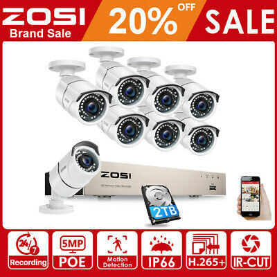 ZOSI 1080P POE Security IP Camera Home CCTV System Outdoor 2.0MP IR Night Vision