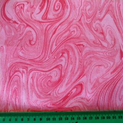 Half Metre Quilting Fabric ~ Marble ~ Lolly Pink