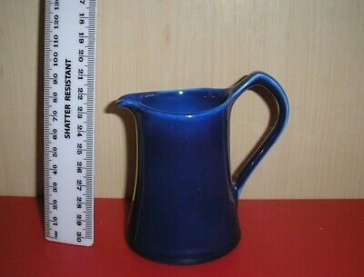 Vintage British Collectable Blue Ceramic Cream/Milk Jug.