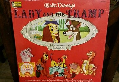 Disney Parks Lady and the Tramp Vinyl Record and Illustrated Book New
