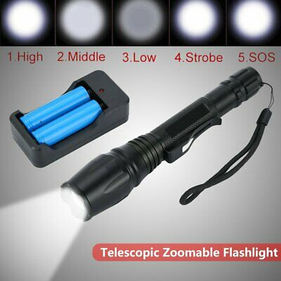 Tactical 20000LM T6 LED 18650 Super Bright Torch Flashlight Lamp Light SP