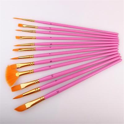 Wooden Gouache oil brushPainting Acrylic Brushes Paint Draw Training Supplies