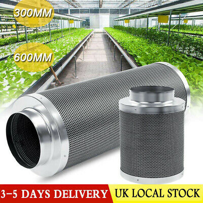 """6"""" In Line Fan Carbon Filter Duct Kit Hydroponic Grow Room Tent Ventilation UK"""