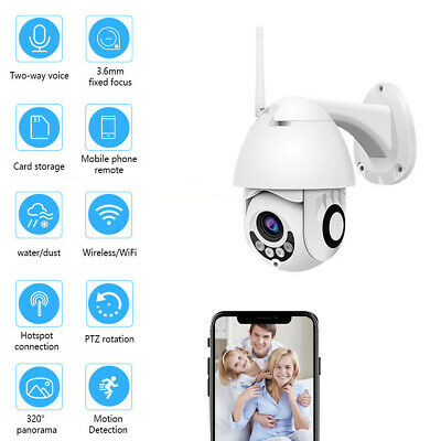 Wireless WIFI IP Camera HD Network Cam CCTV In/Outdoor Security IR Night 1080P