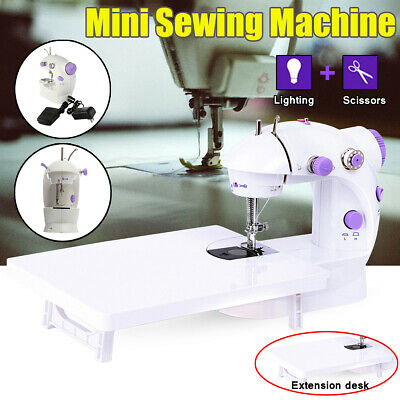 Portable Mini Desktop Sewing Machine Double Speed Automatic Thread with Light LE