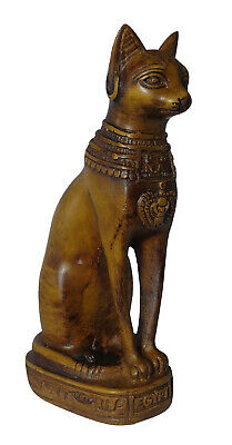 "Egypt Bastet Bast Goddess Cat Pharaoh Figurine Statue Ancient 5.1"" Sculpture 201"