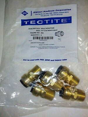 "(5 Pack) Tectite Sharkbite Style 3/4"" Push-to-Connect X 3/4"" MPT Male Adapter,"
