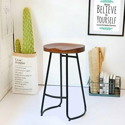 Bar Stools Breakfast Kitchen Bar Home Counter High Chair Vintage Wood Pub Seat