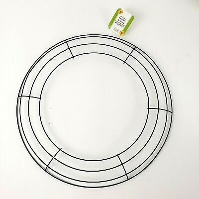 """Lot of 4 14""""  Wire Wreath Frame Round Circle Metal Floral Form Decor free Ship!"""