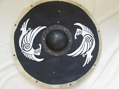Odin's Ravens Huggin and Munnin Viking shield
