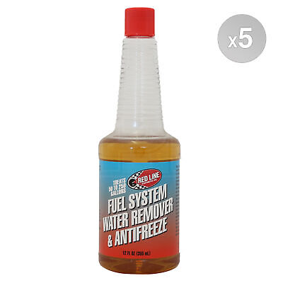 RED LINE Fuel System Water Remover & Antifreeze Redline Treatment 5 x 355ml