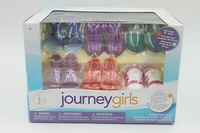 American Journey gril 6 pairs of shoes fit 18'' doll girl gift