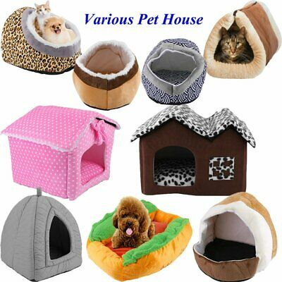 Cute Soft Fleece Warm Washable Cushion Mat Dog Puppy Cat Pet Basket Bed House
