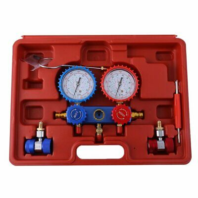 Air Conditioning AC Diagnostic Manifold Gauge Refrigerant Tool With Carry Box SA