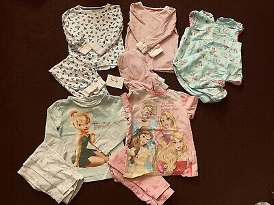 Bundle Of Pj's (5 Sets Of Pyjamas) Age 3-4 girl