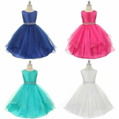 Flower Girl Wedding Dress Party Prom Communion Formal Ocassion 3-12Years